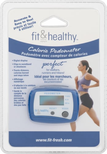 MEDport Fit and Healthy Calorie Pedometer Perspective: left
