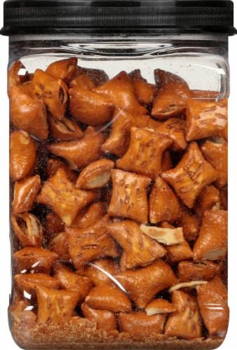 Three Dog Bakery Original Pet-zel Bites Peanut Butter Filled Dog Treats Perspective: left