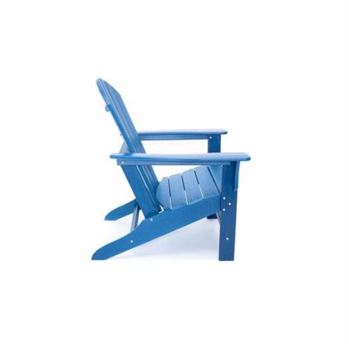Hampton Navy Poly Outdoor Patio Adirondack Chair Perspective: left