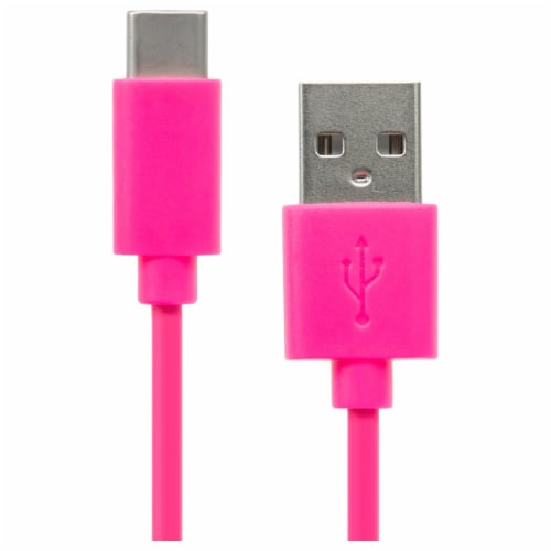 CellCandy 3 Foot Type C Cable - Pink Perspective: left