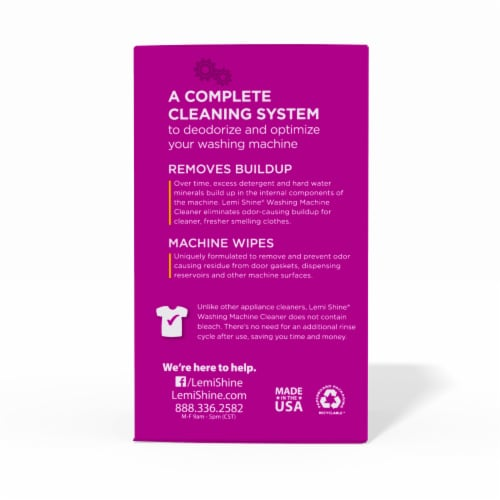 Lemi Shine Washing Machine Cleaner Pouches Perspective: left