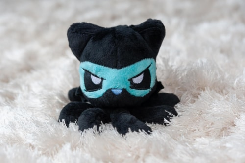Tentacle Kitty Series Little One Ninja Plush Collectible | 4 Inches Tall Perspective: left