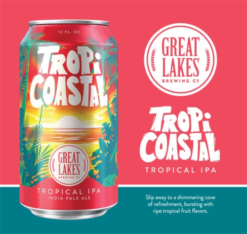 Great Lakes Breweing Co TropiCoastal Tropical IPA Perspective: left
