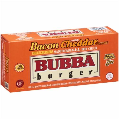 Bubba Burger Gluten Free Bacon Cheddar Cheeseburgers Perspective: left