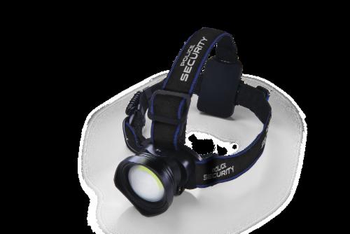 Police Security Bright Bundle Breakout Headlamp & Barricade Flashlight Perspective: left