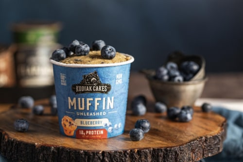 Kodiak Cakes Blueberry Muffin Unleashed Power Cup Perspective: left