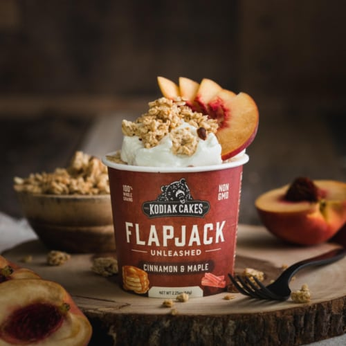 Kodiak Cakes Unleashed Cinnamon & Maple Flapjack Cup Perspective: left