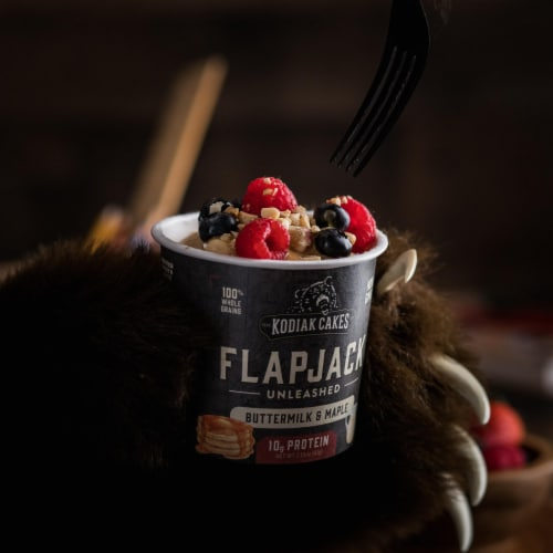 Kodiak Cakes Power Cakes Unleashed Buttermilk & Maple Flapjack Cup Perspective: left
