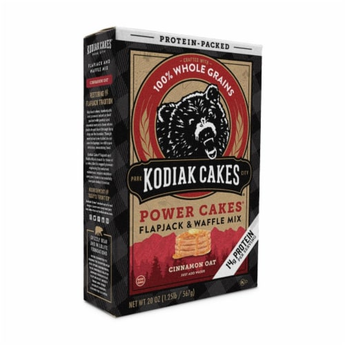 Kodiak Cakes Power Cakes Cinnamon Oat Flapjack and Waffle Mix Perspective: left