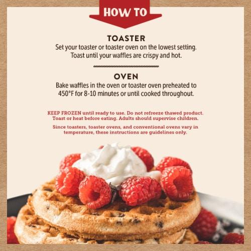 Kodiak Cakes Chocolate Chip Power Waffles Perspective: left