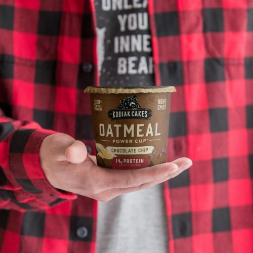 Kodiak Cakes Power Cup Chocolate Chip Oatmeal Perspective: left