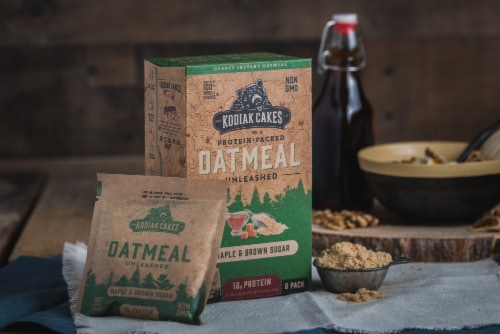 Kodiak Cakes Maple Brown Sugar Oatmeal Packets Perspective: left