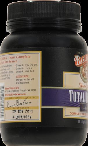 Barlean's Total Omega 3-6-9 Fish Oil Caplets Perspective: left