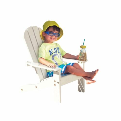 KidKraft Children's Adirondack Chair - White Perspective: left