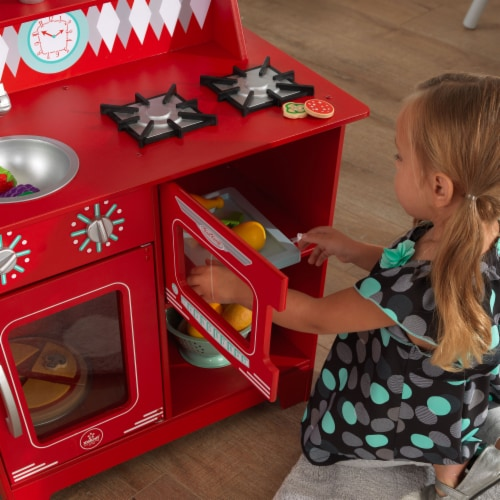 KidKraft Classic Kitchenette - Red Perspective: left