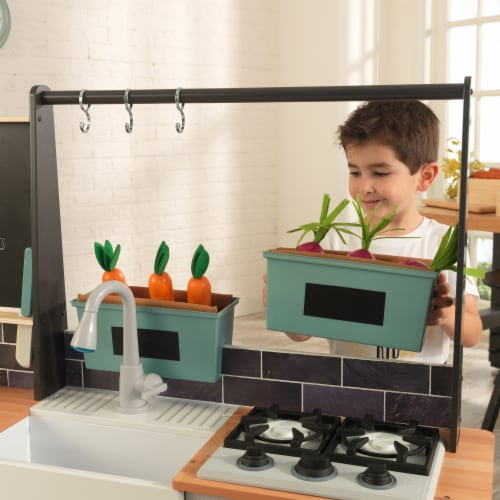 KidKraft Farm to Table Play Kitchen with EZ Kraft Assembly™ Perspective: left