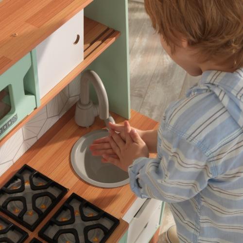 KidKraft Mid-Century Modern Play Kitchen with EZ Kraft Assembly™ Perspective: left