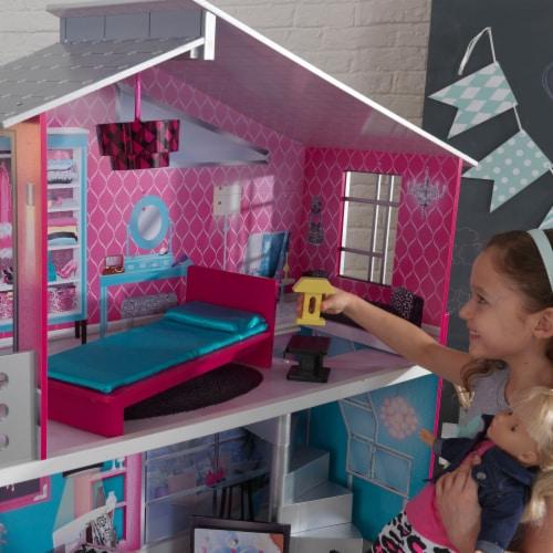 KidKraft Breanna Wooden Dollhouse for 18-Inch Dolls Perspective: left