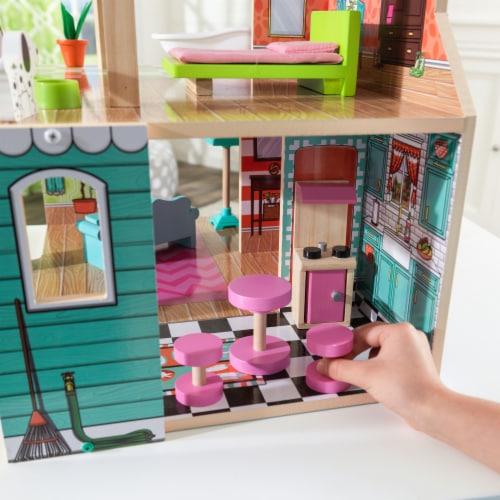 KidKraft Pacific Bungalow Dollhouse Perspective: left