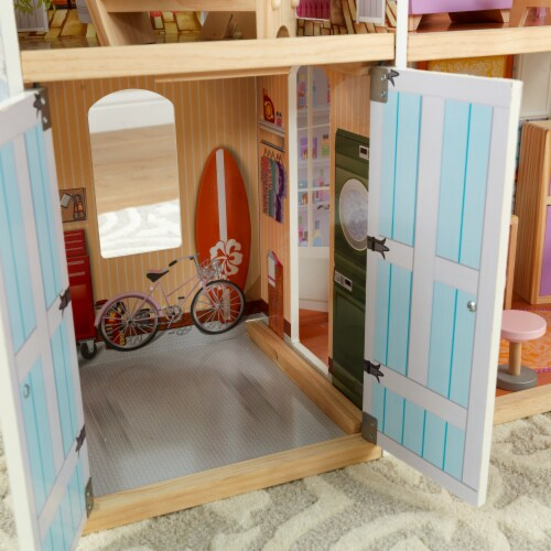 KidKraft Grand View Mansion Dollhouse with EZ Kraft Assembly™ Perspective: left