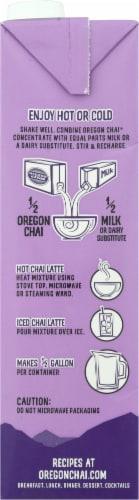 Oregon Chai Slightly Sweet Latte Perspective: left