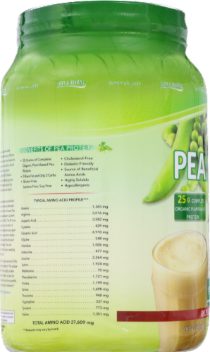 Olympian Labs Vanilla Pea Protein Perspective: left