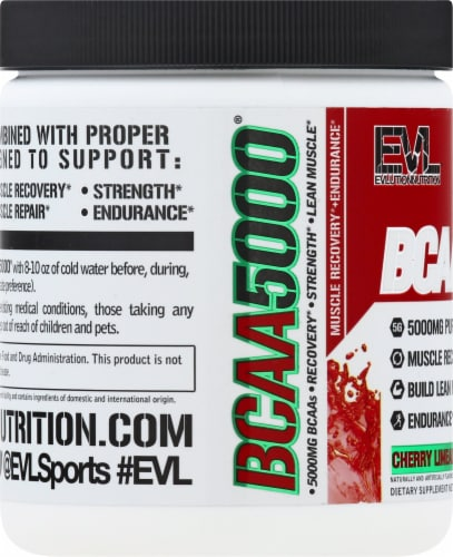 Evlution Nutrition  BCAA5000™   Cherry Limeade Perspective: left