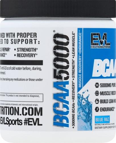 Evlution Nutrition  BCAA5000™   Blue Raz Perspective: left