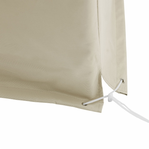 Crosley Catalina Patio Sectional Cover in Tan Perspective: left