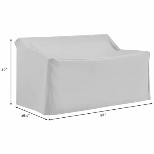 Crosley Patio Loveseat Cover in Gray Perspective: left
