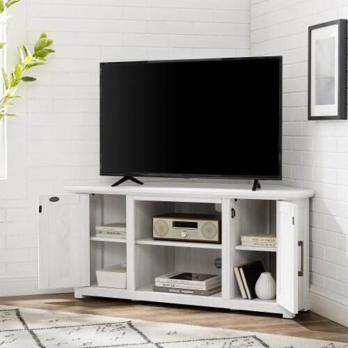 Crosley Camden Corner TV Set - White Finish Perspective: left