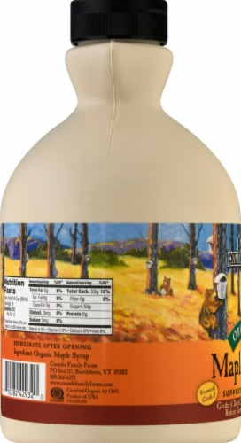 Coombs Family Farms Organic Grade A Maple Syrup Perspective: left