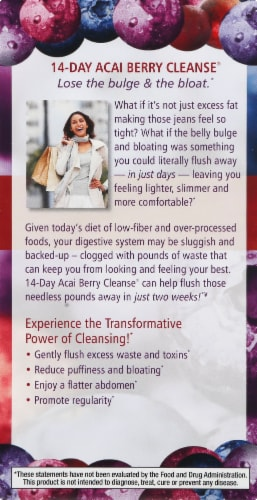 Applied Nutrition 14-Day Acai Berry Cleanse Weight-Loss Dietary Supplement Tablets Perspective: left