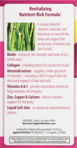 Applied Nutrition Longer Stronger Hair & Nails Liquid Soft-Gels Perspective: left