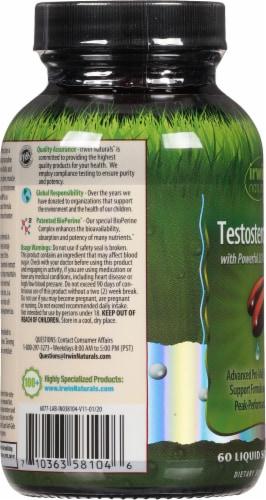 Irwin Naturals Testosterone UP Dietary Supplement Liquid Soft Gels Perspective: left
