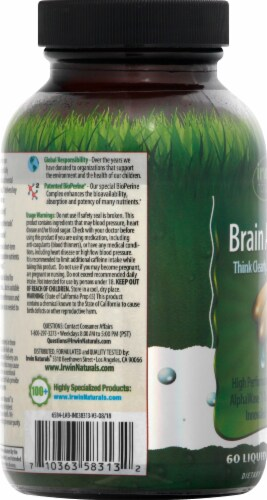 Irwin Naturals Brain Awake Liquid Soft Gels Perspective: left