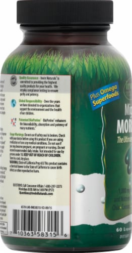 Irwin Naturals Mighty Moringa Liqid Soft-Gels 1000mg 60 Count Perspective: left