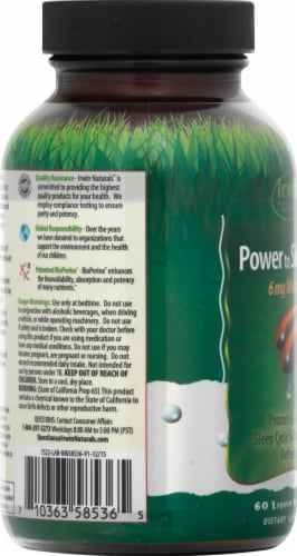 Irwin Naturals Power to Sleep PM® Melatonin Liquid Soft-Gels 6mg Perspective: left
