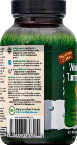 Irwin Naturals Whole-Body Turmeric + Liquid Soft-Gels Perspective: left