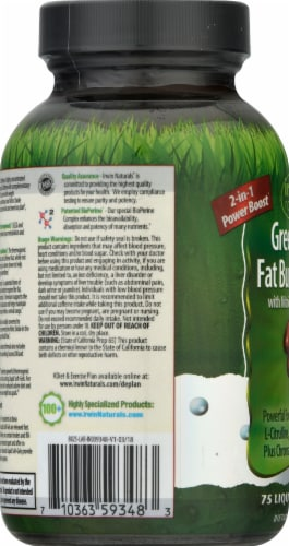 Irwin Naturals Green Tea Fat Burner Red with Nitric Oxide Booster Dietary Supplement Perspective: left
