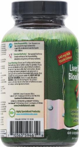 Irwin Naturals Liver Detox & Blood Refresh Liquid Softgels Perspective: left