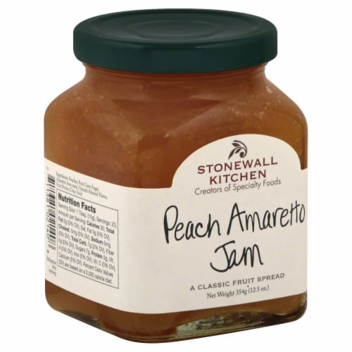 Stonewall Kitchen Peach Amaretto Jam Perspective: left