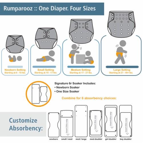 Kanga Care Rumparooz OBV One Size Pocket Cloth Diaper | Wander (6-40lbs) Perspective: left