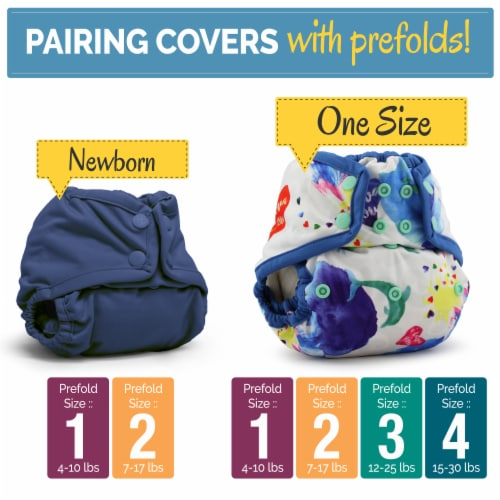 Kanga Care Bamboo Prefold Cloth Diapers (6pk) - Size 2 : Infant Perspective: left