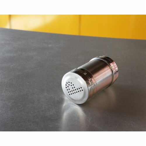 Stainless Steel Salt and Pepper Shakers for Kitchen - 3.5 Inch Perspective: left