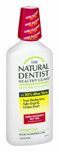 Natural Dentist Healthy Gums Peppermint Twist Antigingivitis Rinse Perspective: left