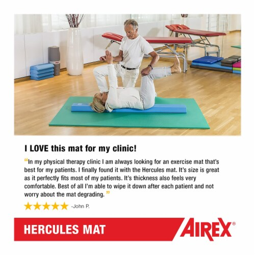 Airex Hercules Closed Cell Foam Fitness Mat for Yoga, Pilates, & Gym Use, Blue Perspective: left