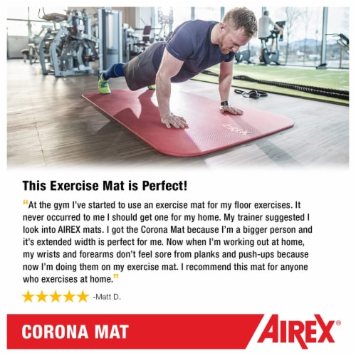 Airex Corona Closed Cell Foam Fitness Mat for Yoga, Pilates, & Gym Use, Green Perspective: left