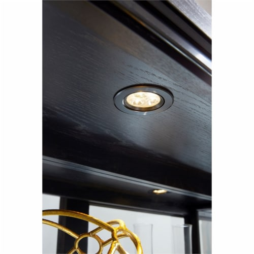 Home Fare Rockford Mirrored Two Way Sliding Door Curio Perspective: left
