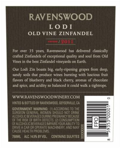 Ravenswood Lodi Zinfandel Red Wine Perspective: left